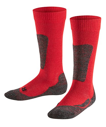 Falke - active ski, calzettoni per bambini e ragazzi, rosso (rot  (fire 8150)), taglia produttore: 27