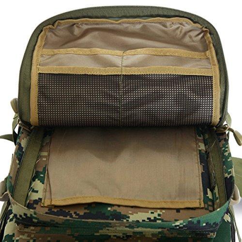 Outdoor Militär Angriff Rucksack Tarnung Wasserdicht Bergsteigen Tasche Desertcamouflage