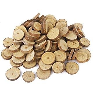 ueetek 1001,5–3cm Holz Log Scheiben Scheiben für DIY Handwerk Hochzeit Aufsteller