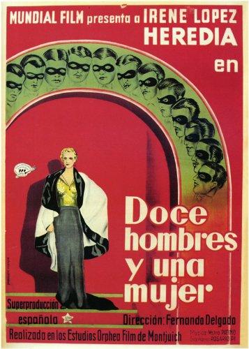 Doce Hombres y Una Mujer-Poster Movie spagnolo B, 69 x 102 cm
