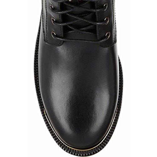 Stivali da donna stivaletti piatti neri Autunno Inverno Booties Scarpe da banchetto Caricamenti del posto di lavoro PU 0700FD , black , 39 BLACK-42