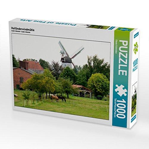 Preisvergleich Produktbild Holländerwindmühle 1000 Teile Puzzle quer
