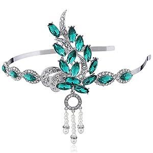 ArtiDeco 1920s Stirnband Damen Retro Hochzeit Haarreif Gatsby Kostüm Accessoires 20er Jahre Flapper Haarband