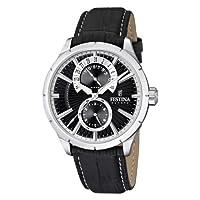 Reloj Festina F16573/3 de cuarzo para hombre con correa de piel, color negro de Festina