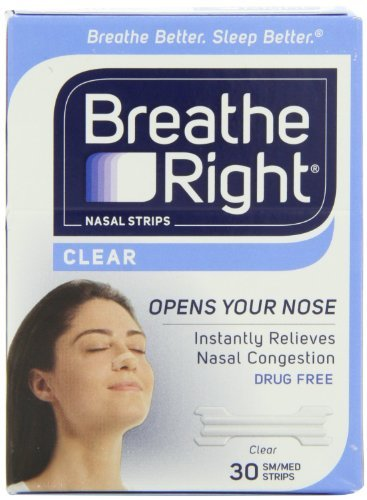 Breathe Right Nasal Strips, Small/Medium, Clear (Clear - 90 Count) -
