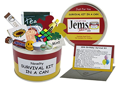 30th Birthday Survival Kit In A Can. Novelty Fun Gift