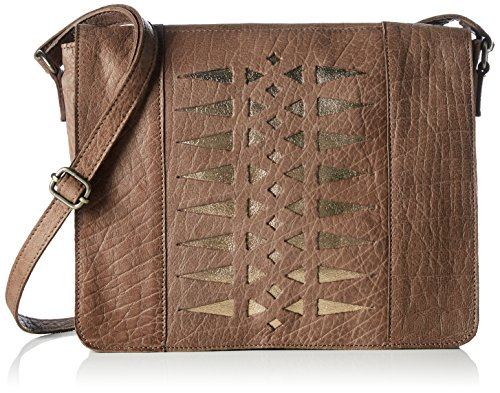 PIECES - PCDAGGA LEATHER CROSS BODY BAG, Borsa a tracolla Donna Marrone (Braun (Nougat))