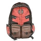 Yazi Neu Marvel Held Rucksack Deadpool Schultasche Unisex Blumenstickerei Daypack Outdoor Backpack...