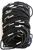 Pritties Accessories Lot de 100 élastiques à cheveux Modèle fin Noir