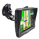 Navigatore satellitare per auto, moto, 5 pollici, 8 GB, 256 MB, navigatore satellitare con parasole, aggiornamenti delle mappe europee