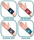 Pulskühler von Aquacoolkeeper, Kühlarmband, Wristband, Sportlerarmband für Erwachsene - cool blue