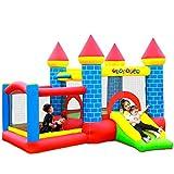 Château Gonflable pour Enfants 3m : Aire de Jeux Gonflable avec Toboggan et Double Parc Intérieur Sécurisé - Souffleur et Sac de Rangement Inclus - L300 x P275 x H210 cm - Castle Bouncer Deluxe