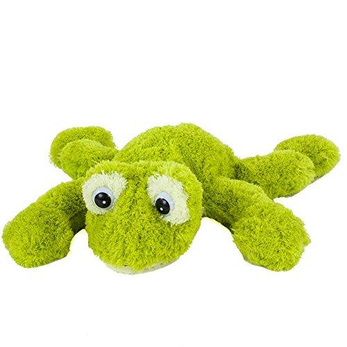 6225 - Kuscheltier Frosch Freaky, grün, liegend, 23 cm