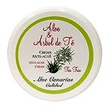 Aloe Canarias 200010 - Crema de aloe vera y árbol del té, anti-acné