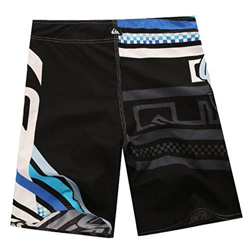 Baymate Herren Badeshorts Schnell Trocknend Surf-Shorts Mit Drucken Beachshorts Blau