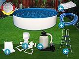 Pool Set Easy 6,00x1,50m rund Stahlwandbecken Komplettset Aufstellbecken