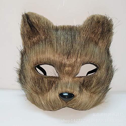 DQICE Fox halbe Gesichtsmaske Tiergesicht Kostüm Kostüm Erwachsene Pro Masquerade Theme ()
