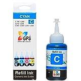 GPS Compatible Ink for Epson Printer L200/L210/L300/L350/L355/L550 [ Cyan Colors ] Compatible 70gms. 1 Bottles.