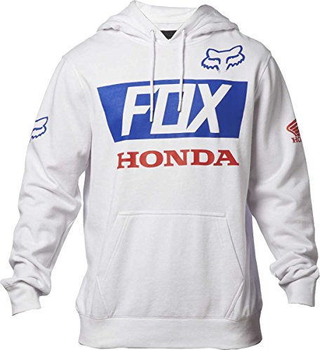 fox-honda-pull-capuche-de-base-pour-hommes-medium-white
