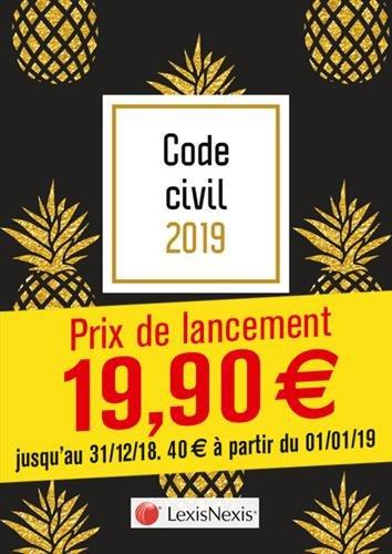 Code civil 2019 - Ananas: Prix de lancement jusqu'au 31/12/2018, 40.00 ¤ à compter du 01/01/2019 par Laurent Leveneur