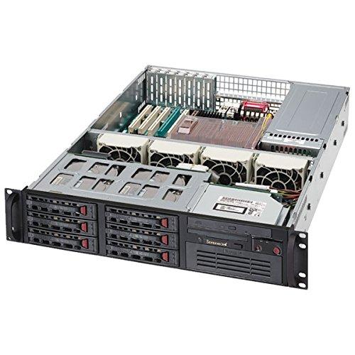 Super Micro CSE-825TQ-R700LPB Server Gehäuse 2U inkl. 700W (E-ATX, 8x 3,5 SAS/SATA, 2x USB) shcwarz