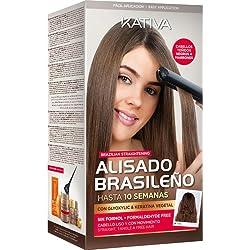 Kit Kativa Alisado Brasileño para Cabellos Teñidos Oscuros