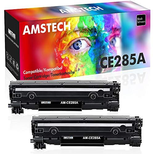 Amstech 2Pack Kompatibel für HP 85A 85X HP85A 285A CE285X CE285A CE285AD für HP Laserjet Pro P1102w P1102 1102w m1212nf MFP Laserjet 1100 1200 Toner Schwarz Druckerpatrone M1217nfw M1132