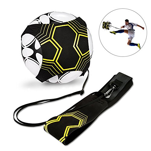 solawill Fußball Kick Trainer Solo Fußball Trainer Soccer Trainer Aid Control Skills Adjustable Waist Belt Soccer Practice Training für Kinder Anfänger Kick Off Trainer