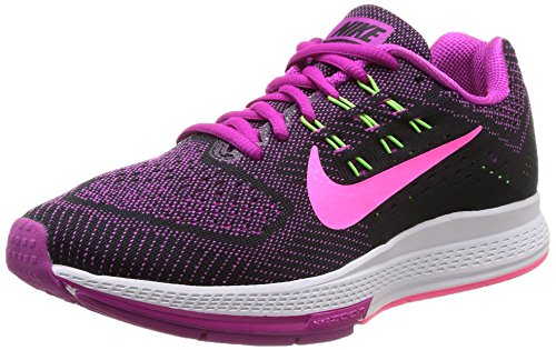 NIKE W Air Zoom Structure 18 Scarpe Sportive, Donna, FCHS Flash/Pnk PW-Blk-FLSH Lm, 37.5