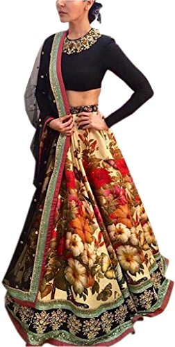 Lehenga Choli ( ClassyFashion Women\'s Heavy Embroidered Tafeta Silk lehnga/Lehenga Choli/Lehenga Choli For Women)