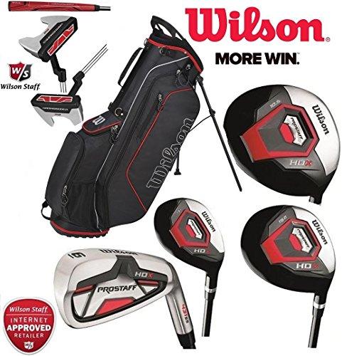 Wilson Prostaff HDX Komplette Golf Club Alle Graphit Set & 2018 Ionix Stand Bag Neu Alle Schläger sind mit Graphitwellen ausgestattet (Graphit Holz 4 Fairway)