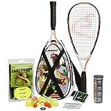 Speedminton S900 Set – Original Speed Badminton/Crossminton Profi Set mit Carbon Schlägern inkl. 5 Speeder®, Spielfeld, Tasche