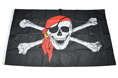 MC Trend Bandera de Piratas pirata con ojo Tapa Calavera 90x...