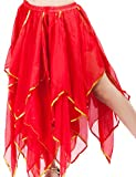 Astage Damen Fairy Bauchtanz Lange Rock Kleid Bauchtanz Kostüm Halloween Rot