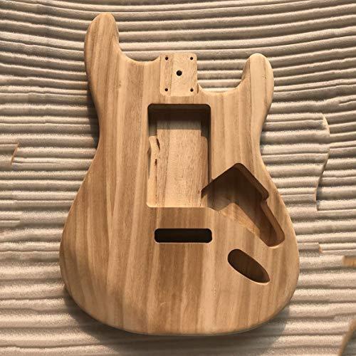 Kongqiabona Cuerpo de guitarra de bricolaje sin terminar Cuerpo de arce para...