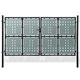 Zaungitter Doppelstabmatten schwarz 300x225cm.Dieses Design des Cancellello sind robust und sicher Gartentor nice Gartentor