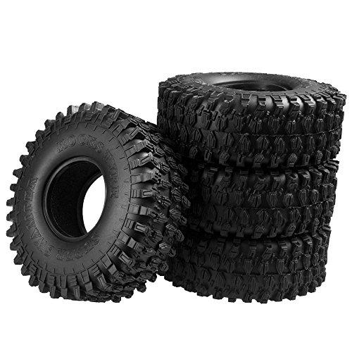 Preisvergleich Produktbild 4 Stück 1.9inch 120mm RC Reifen Gummi Pneu Tires Tyre für 1/10 Crawler Auto Axial SCX10