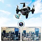 RC Mini Quadcopter Helicopter Drone With 2.4G 4CH 6 Axis LED RC Quadcopter Toy Drone Wifi FPV Drone 720P HD Camera and One-Button Take off/Landing