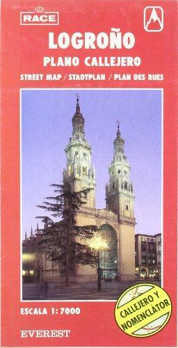Logroño, La Rioja. Plano callejero y mapa de carreteras (Planos callejeros/serie roja)