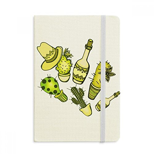 DIYthinker Sombrero Mexiko Wüsten-Kaktus Mexikanische Notebook Stoff Hard Cover Klassisches Journal Tagebuch A5 A5 (144 X 210mm) Mehrfarbig (Sombrero Stoff)