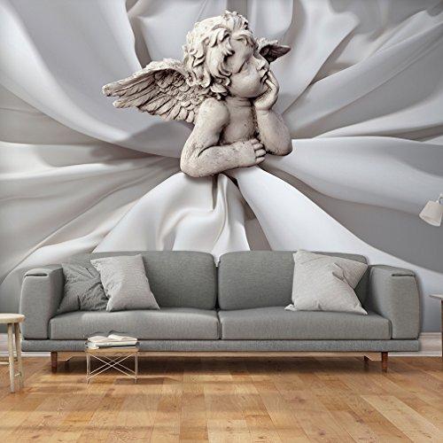 decomonkey | Fototapete Engel weiß grau Antik 200x140 cm | Tapete | Wandbild | Riesen Wandbild | Bild | Fototapeten | Tapeten | Wandtapete | Wanddeko | FOC0009a4L