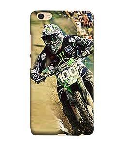 PrintVisa Designer Back Case Cover for Vivo V5 Max (The Moto Racer Cool Deign)
