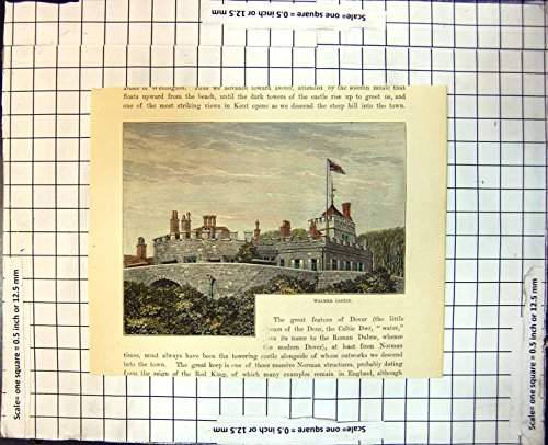 Drucken Sie Mit Ziegeln Gedeckte Dach-Flagge 339J709 Walmer-Schloss-Kents England Burgartige Wände