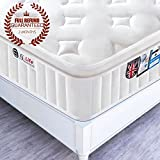 4FT6 Double 3D Breathable Fabric Pocket Sprung Mattress with Memory Foam - Multi-Functional 9-Zone Orthopaedic Mattress - 10.6-Inch Deep - More Sizes Available: 2FT6 Small Single / 3FT Single / 4FT small Double / 5FT UK King Size / 6FT Super King Size