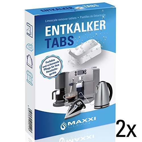 Maxxi Clean 2x20 Entkalker-Tabs, Kalklöser und Kalkreiniger als Allzweckreiniger zur Reinigung für...