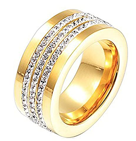 SaySure- Gold Filled Women Rings Vintage Wedding (SIZE :