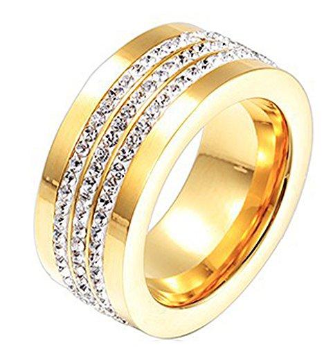 SaySure- Gold Filled Women Rings Vintage Wedding (SIZE : 6)