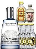 Gin-Set Gin Mare aus Spanien 0,7 Liter + Siegfried Dry Gin Deutschland 4cl + Gordons Dry Gin 5cl + 8 Thomas Henry Tonic Water 0,2 Liter