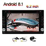 Unterst¡§1tzung Front- und R¡§1ckkamera Doppel-DIN 2DIN Android 8.1 OS Car Stereo 6.2 Zoll kapazitive Touch-Screen-Auto-DVD-Navigation Bluetooth 4.0 Wifi 3G / 4G FM / AM Radio SWC Auto-Logo USB / SD-K