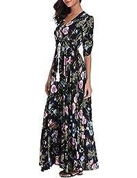 a2716e51ab5c0 Amazon.fr   robe boheme longue - Robes   Femme   Vêtements